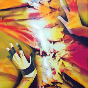 gina-plunder_glove_117x70cm-acryl-papier-schissscheibe-auf-leinwand_2014_optimized