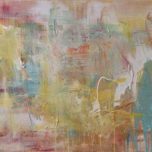 """FOCUSED ON LIGHTNESS"" - Acryl auf Leinwand, 70x100 cm, 2021 - 4.650 €"