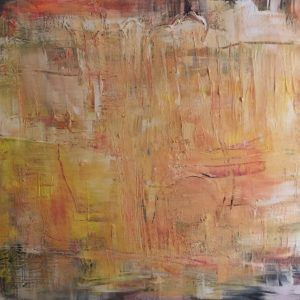 """""""FOCUSED ON LETTING GO OF A HARD DAY´S STRESS AND ANGER"""" - Acryl auf Leinwand, 70x100 cm, 2021 - 4.650 €"""