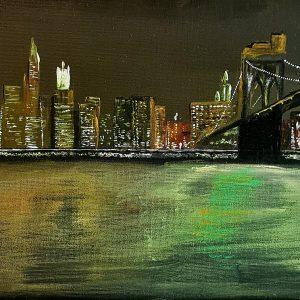 """""""New York"""" - Acryl auf Leinwand, 50 cm x 20 cm, 2014, Mario Meier - 1.200 €"""