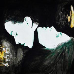 """Winterträume"" - Acryl auf Papier, 40 cm x 60 cm, 2020, Mario Meier - 5.900 €"