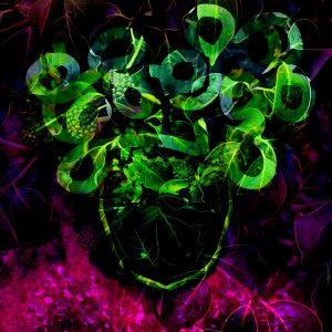 Titel: JIMI HENDRIX in the garden of the Samarkand Hotel THE DAY BEFORE he died Technik: Fotografie, digital painting Jahr: 2020 Originalgröße: 100x100 cm (BxH) Artwork: Fine Art Fotoprint,kein Rahmen Edition 10 Preis: 3.950€