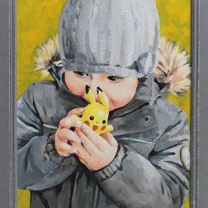 """Lieblingsspielzeug""- Öl auf Leinwand, 42x30, 2016 - Julia Ulrich - 890 €"