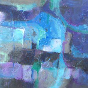 Ewa Martens, Eclectic Dreams, acrylic on canvas, 80x120 cm.2019