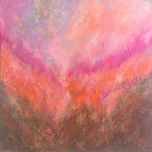 Ewa Martens, Falling In Love, acrylic on canvas, 80x80 cm, 2021
