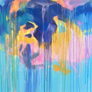 Ewa Martens, Forces Of Nature, acrylic on canvas, 90x130 cm, 2021