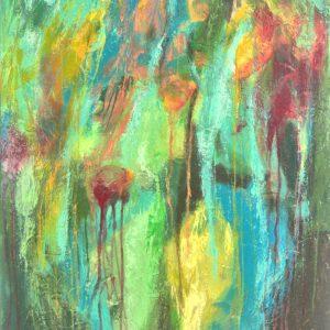 Ewa Martens, Inner Jungle, acrylic on canvas, 100x80 cm, 2021