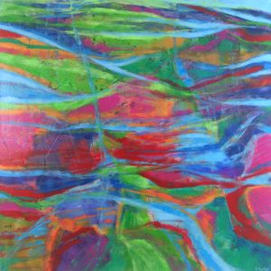 Ewa Martens, Long Way to Heaven, acrylic on canvas, 100x100 cm, 2020