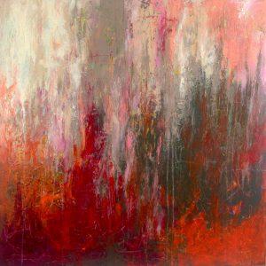 Ewa Martens, Love Is All We Need, acrylic on canvas, 100x100 cm, 2021