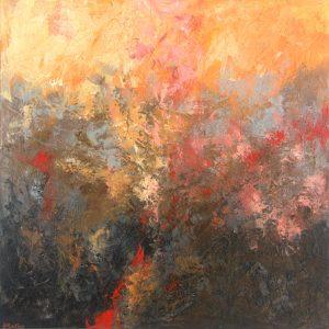 Ewa Martens, Magical Forest II, acrylic on canvas, 80x80 cm, 2019