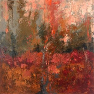 Ewa Martens, Magical Forest, acrylic on canvas, 80x80 cm, 2019