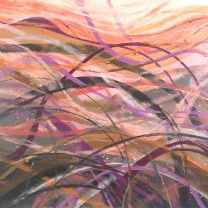 Ewa Martens, Serenity, acrylic on canvas, 80x100 cm, 2020