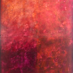 Ewa Martens, The Way Inside, acrylic on canvas, 80x100 cm, 2021