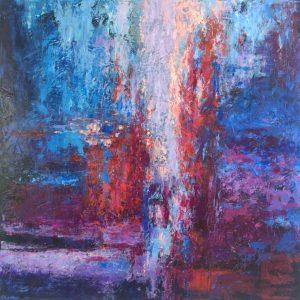 Ewa Martens, Twilight, acrylic on canvas, 100x100 cm, 2019
