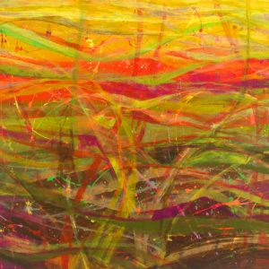 Ewa Martens, Wisps Of Happiness, acrylic on canvas, 80x120 cm, 2020