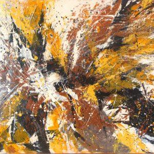 Ewa Martens, With Full Swing II, acrylic on canvas, 80x120 cm, 2018