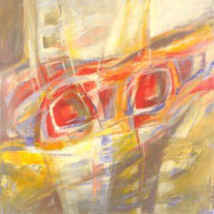 Ewa Martens,Own Dynamics II, acrylic on canvas, 74x74 cm, 2018-2