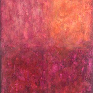 Ewa Martens,The Way Inside II, acrylic on canvas, 80x100 cm, 2021