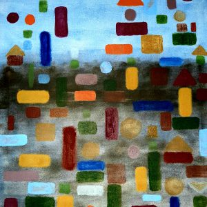 Homage to Klee, Mixed Media on canvas, 60x80 cm, 2008