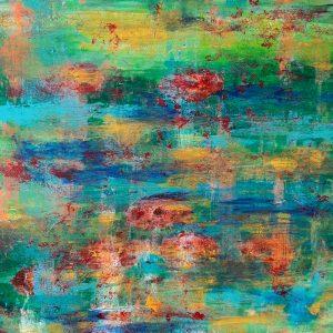 In Monet's Garden, Acrylic on canvas, 50x50 cm, 2021