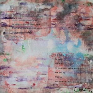 Lovesong, Acrylic on canvas, 40x40 cm, 2018