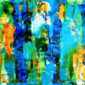 Melancholia, Acrylic on canvas on wood, 67x76cm