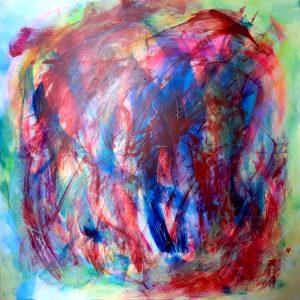 o.T., Acrylic on canvas, 100x100 cm 2021