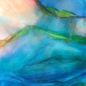 o.T. Acrylic on canvas on wood, 60x70 cm, 2016