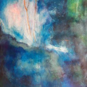 o.T.,Acrylic, Crayon on canvas on wood, 67x78 cm, 2016