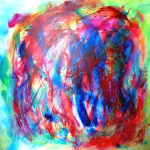 o.T.,Acrylic on canvas,100x100cm, 2021